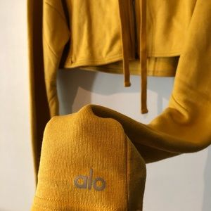 Alo yoga mustard hoodie